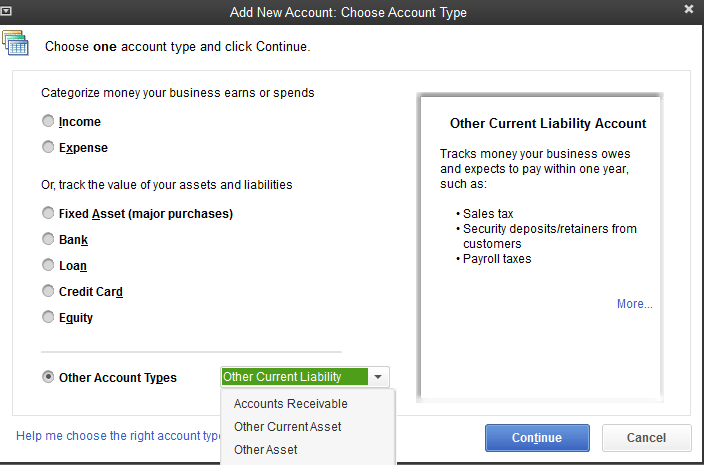choose-new-account-quickbooks