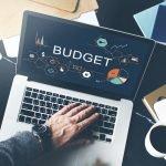 budget on a laptop